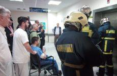 Επιτυχής  η σημερινή άσκηση της  Π.Υ.  αντιμετώπισης σεισμικής δόνησης και πυρκαγιάς στο Νοσοκομείο