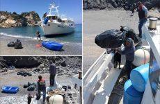 Καθάρισαν τις παραλίες Άγιος Παντελεήμονας, Κάστρο και Μέγας Γιαλός