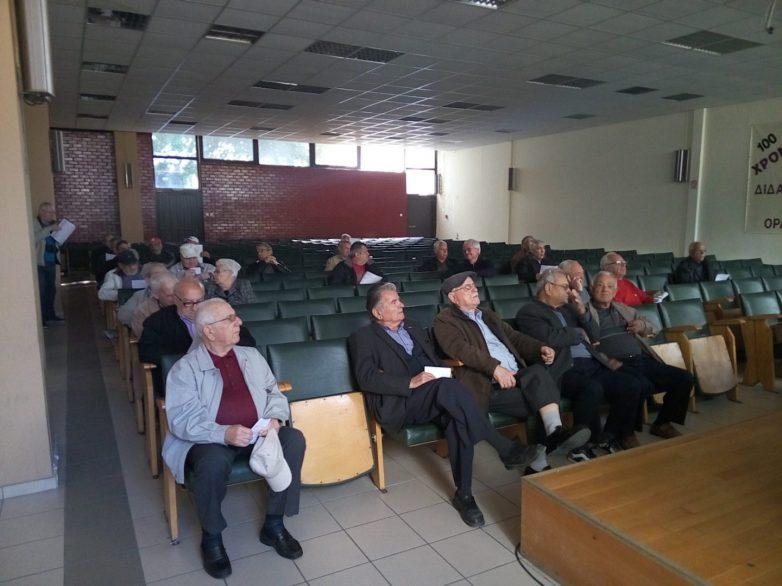 Ετήσια απολογιστική συνέλευση των συνταξιούχων ΙΚΑ Ν. Μαγνησίας