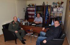 Συνάντηση  δημάρχου Ρήγα Φεραίου με το νέο διοικητή της 1ης Ταξιαρχίας Αεροπορίας Στρατού Στεφανοβικείου