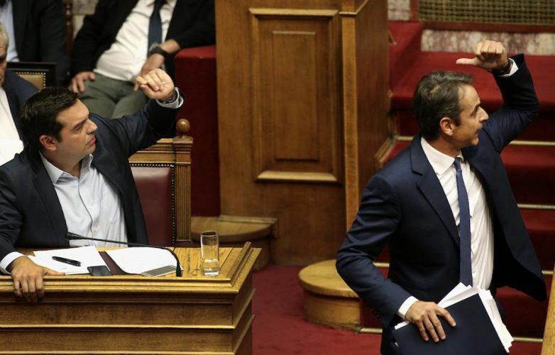 Σφοδρή αντιπαράθεση Τσίπρα-Μητσοτάκη στη Βουλή για την τροπολογία της ΣΕΚΑΠ