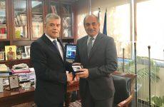 Συνάντηση περιφερειάρχη Θεσσαλίας με τον πρόεδρο της Βουλής  Αντιπροσώπων της Κυπριακής Δημοκρατίας