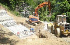 Αποκατάσταση αστοχίας στον επαρχιακό δρόμο διασταύρωση προς Κισσό