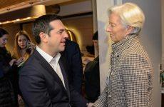 ΔΝΤ: «Μεταρρυθμίσεις και ελάφρυνση χρέους» στην ατζέντα Λαγκάρντ – Τσίπρα