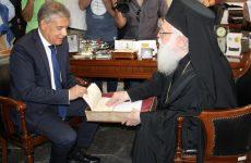 Συνάντηση Αρχιεπισκόπου Τιράνων, Δυρραχίου και πάσης Αλβανίας Αναστάσιου με τον πρόεδρο της ΕΝΠΕ Κώστα Αγοραστό