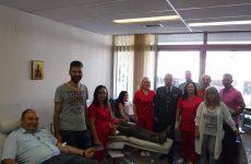 Εθελοντική αιμοδοσία του προσωπικού της Διεύθυνσης Αστυνομίας Τρικάλων