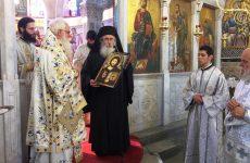 Η Ανώτατη Τιμητική Διάκριση της Μητροπόλεως Δημητριάδος στον αρχιεπίσκοπο Σιναίου Δαμιανό