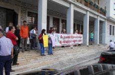 Συγκέντρωση διαμαρτυρίας εργαζομένων ΟΤΑ