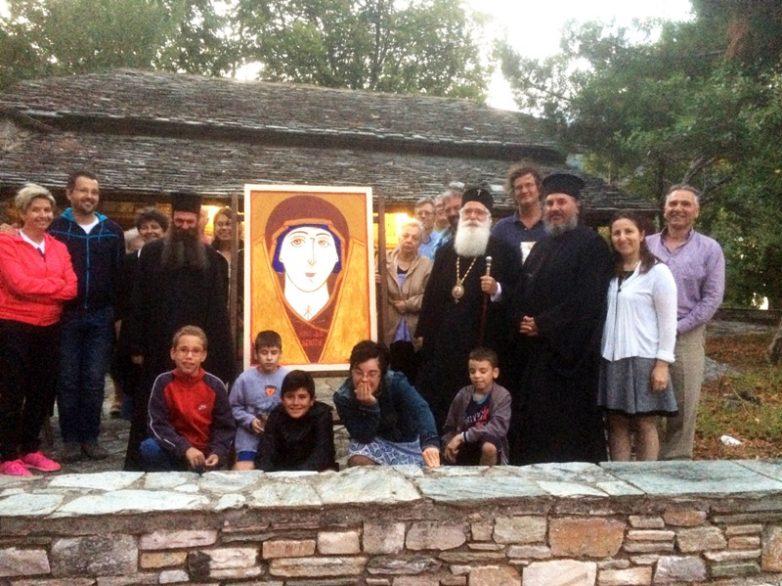 Επίσκεψη  Ιγνατίου στα μαθήματα Αγιογραφίας στην Πορταριά