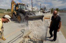 Αποκατάσταση πεζοδρομημένου τμήματος της παραλίας  Αλυκών