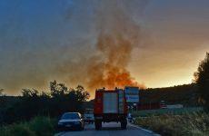 Φωτιά σε αποθήκη στο Διμήνι