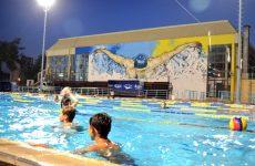 Tοιχογραφία κοσμεί το Κολυμβητήριο Βόλου