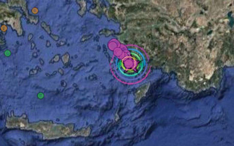 6,4 Ρίχτερ ταρακούνησαν Ρόδο, Κω και τουρκικά παράλια