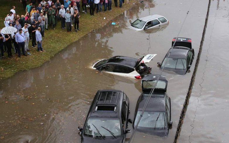 Σφοδρές πλημμύρες στην Κωνσταντινούπολη