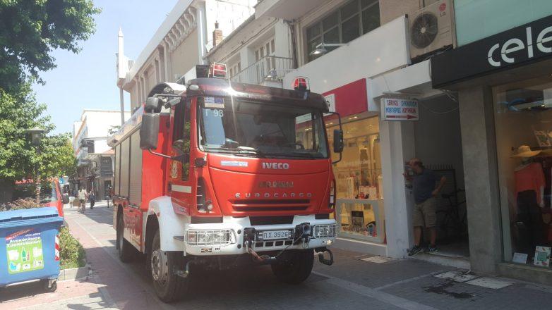 Εκκενώθηκε πολυκατάστημα στο κέντρο της Λάρισας