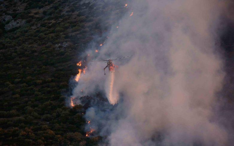Σε ύφεση η πυρκαγιά στην περιοχή του Λαγονησίου
