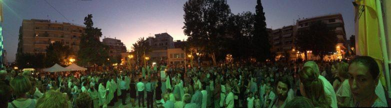 Πλήθος πιστών στον Εσπερινό της Μεταμορφώσεως στον Βόλο