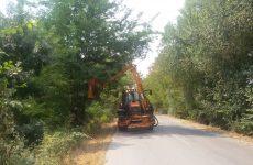 Κόβει τα χόρτα στο οδικό δίκτυο η Περιφέρεια Θεσσαλίας