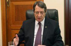 Ν. Αναστασιάδης: Αδιανόητη μια λύση δύο κρατών στην Κύπρο