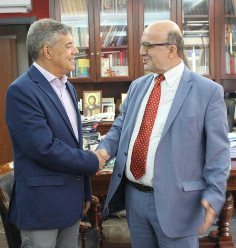 Συνάντηση περιφερειάρχη Θεσσαλίας με τον απερχόμενο πρόεδρο του ΤΕΙ Θεσσαλίας