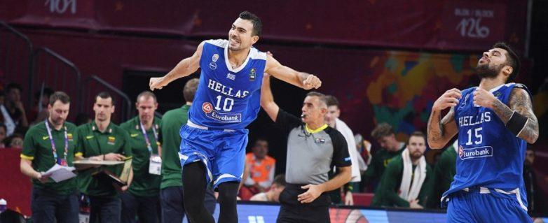 """Πανάξια στους """"8"""" η Ελλάδα  """"πάτησε"""" 64-77 τη Λιθουανία"""