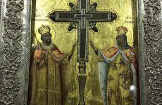 Τεμάχιο του Τιμίου Σταυρού από τα Ιεροσόλυμα στο ναό της Μεταμορφώσεως Βόλου