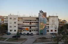 Νέο γκράφιτι τις εργατικές κατοικίες στο «Κουφόβουνο»