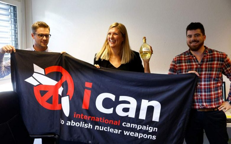 Στη Διεθνή Εκστρατεία για την Κατάργηση των Πυρηνικών Οπλων το Νομπέλ Ειρήνης