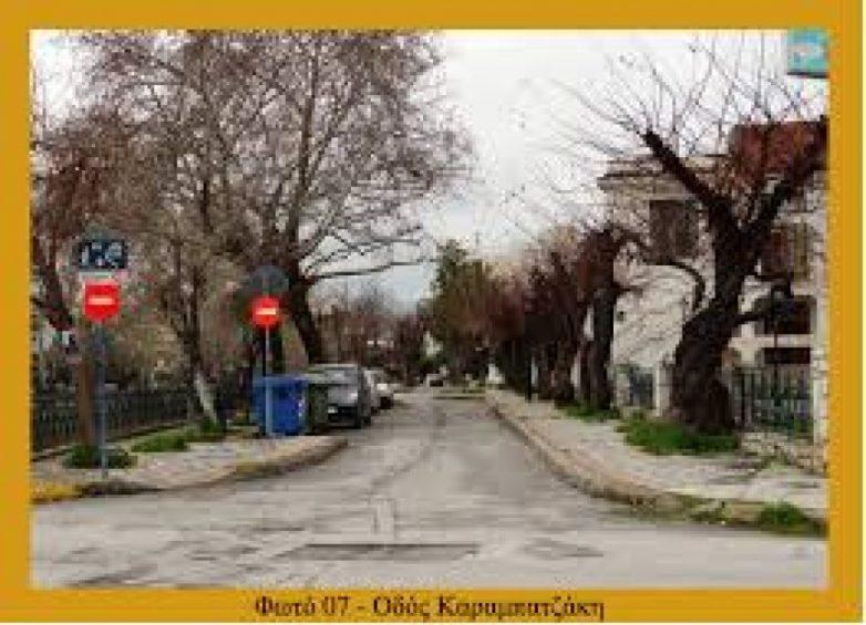 Μεταφύτευση δένδρων για τη μονοδρόμηση της οδού Καραμπατζάκη