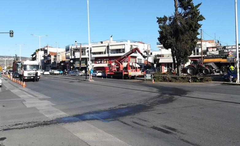 Ρύθμιση κυκλοφορίας στη διασταύρωση των οδών Λαρίσης και Αθηνών λόγω έργων της ΔΕΥΑΜΒ