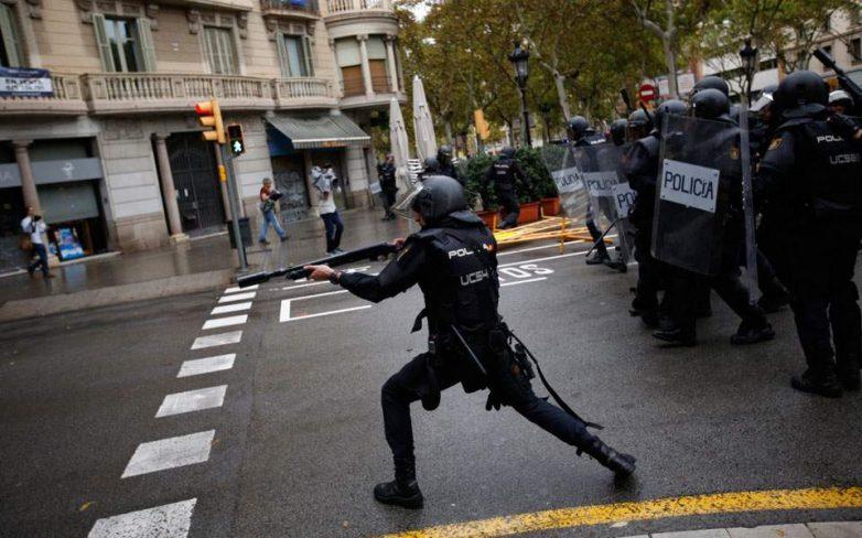 Σκηνές βίας στην Καταλωνία-Στους 337 οι τραυματίες