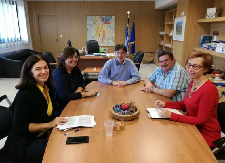 Συνάντηση του Υφυπουργού Παιδείας Δημήτρη Μπαξεβανάκη με στελέχη της VODAFONΕ