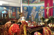 Τιμήθηκε ιεροπρεπώς η μνήμη της Αγίας Αικατερίνης