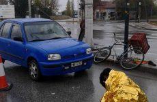 Τροχαίο με παράσυρση ποδηλάτη στην Αθηνών-Λαρίσης