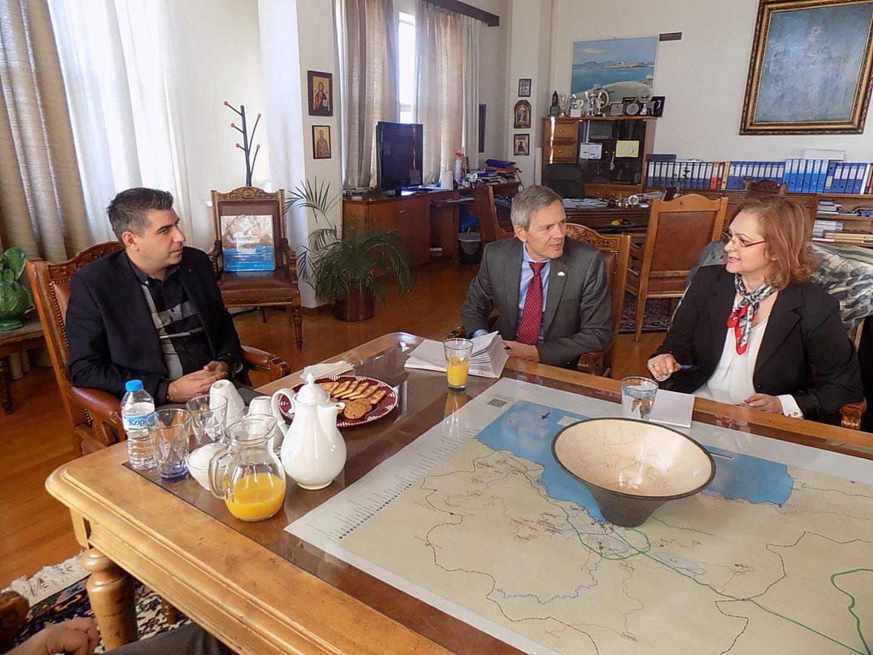 Επίσκεψη του Γερμανού Πρόξενου κ. Στέχελ στο Δημαρχείο του Βόλου
