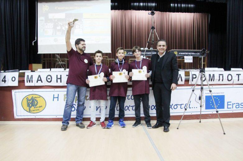 Χρυσό μετάλλιο οι ομάδες ρομποτικής του «8ου Γυμνασίου Βόλου»