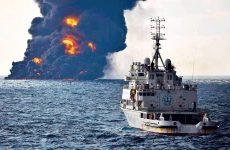 Δύο πετρελαιοκηλίδες 109 τετραγωνικών χιλιομέτρων από το ναυάγιο του ιρανικού δεξαμενόπλοιου