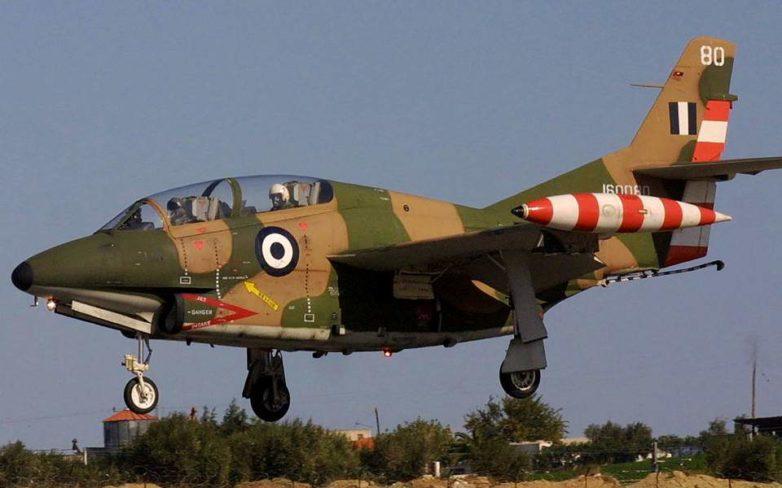 Κατέπεσε εκπαιδευτικό αεροσκάφος τύπου Τ-2 της Πολεμικής Αεροπορίας