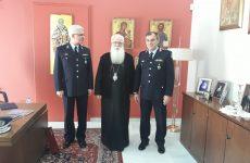 Επίσκεψη του υποστρατήγου Ιωάννου Τόλια και του νέου αστυνομικού δ/ντή στον μητροπολίτη