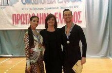 Δεύτερη θέση  στο πανελλήνιο πρωτάθλημα αθλητικού Latin οι Φάτσης – Μαντάνη