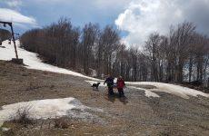 Άσκηση  ΕΜΑΚ και Πυροσβεστικής Βόλου στο Χιονοδρομικό Πηλίου