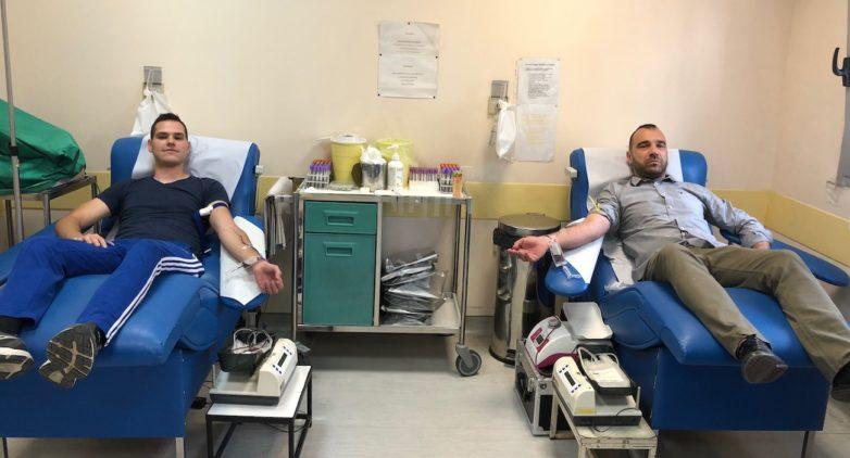 Πρόσφεραν αίμα τα μέλη της Χ.Α. Μαγνησίας