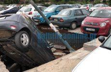 «Βούλιαξαν» αυτοκίνητα σε πάρκινγκ στον ΗΣΑΠ Ταύρου
