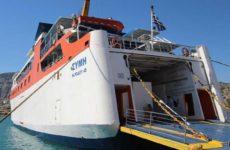 Το πλοίο  «Σύμη» προσέκρουσε στο λιμάνι της Σκιάθου