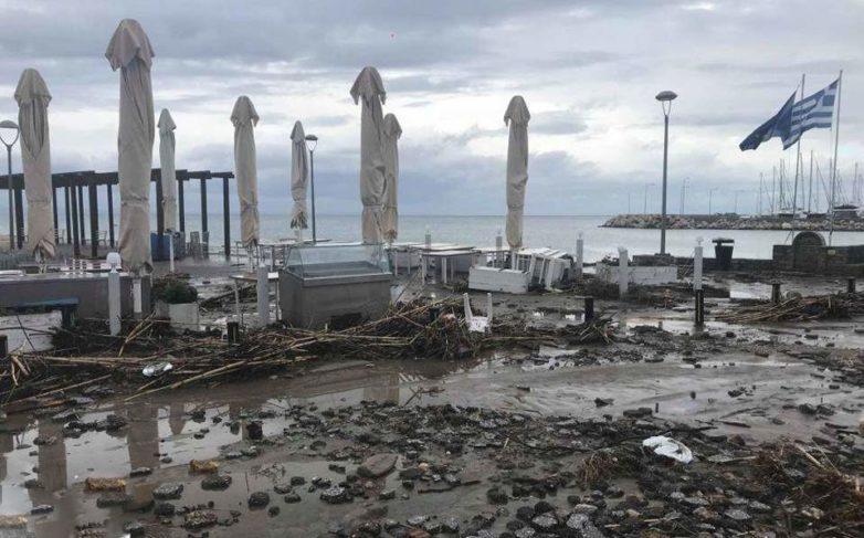 Η Χαλκιδική μετρά τις πληγές της μετά την σφοδρή βροχόπτωση