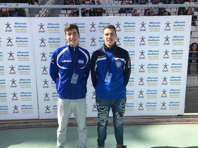 Δύο αθλητές της Νίκης Βόλου στην προετοιμασία της Εθνικής ομάδας πόλο Εφήβων