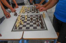 Υπαίθριο σκάκι στο 6ο Γυμνάσιο Βόλου