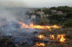 Φωτιά σε ξερά χόρτα στο Αλιβέρι Νέας Ιωνίας