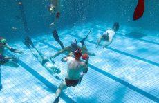 Επίδειξη υποβρυχίου ράγκμπι από την «ΦΥΣΑΛΙΣ» στο Βόλο