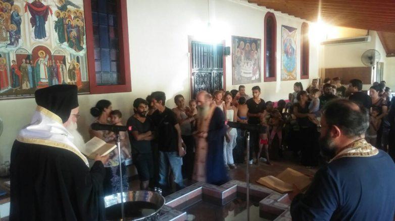 Βάπτιση 15 παιδιών ΡΟΜΑ στο Φυτόκο